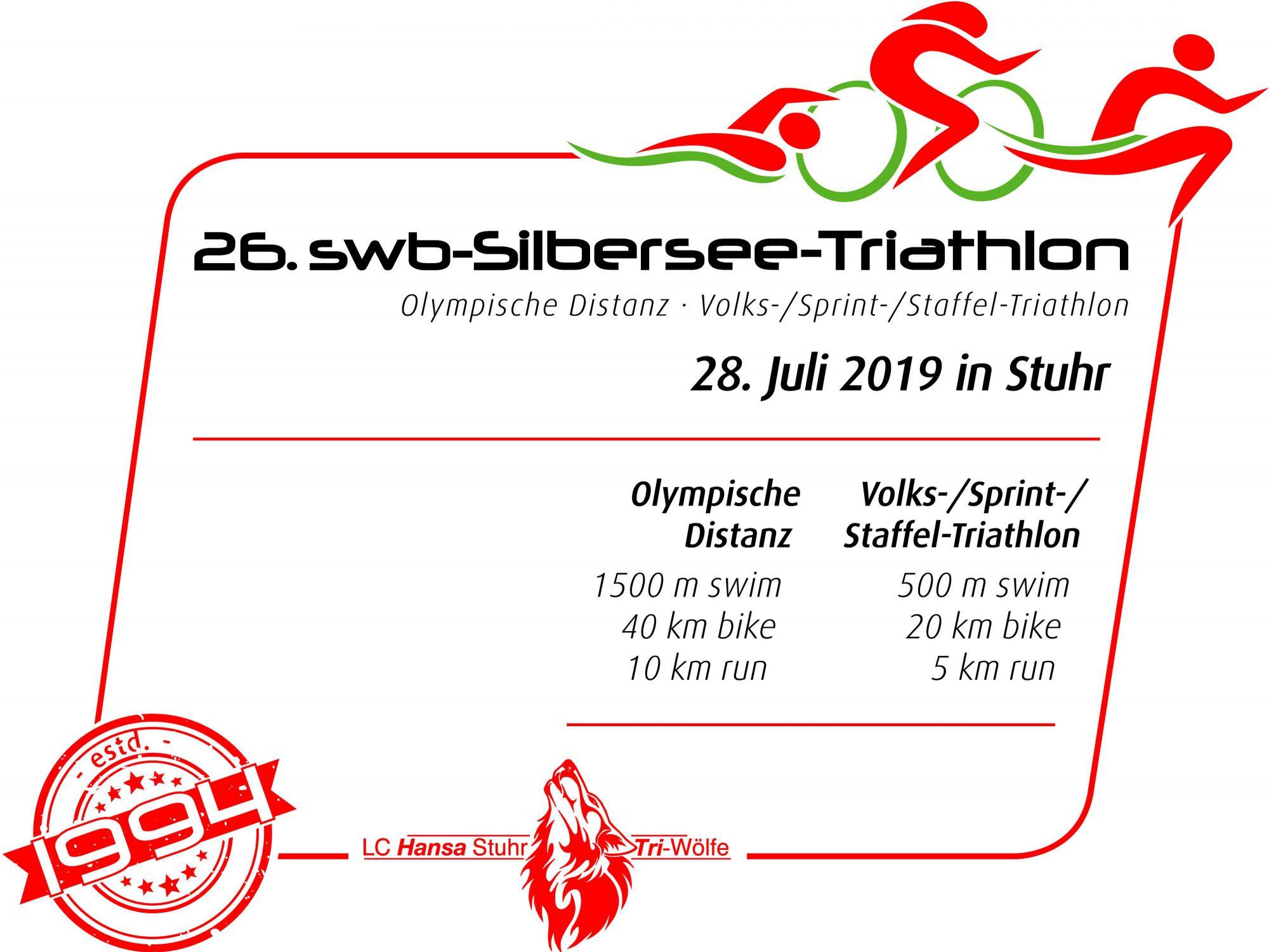 26. swb-Silbersee-Triathlon - 28.07.2019